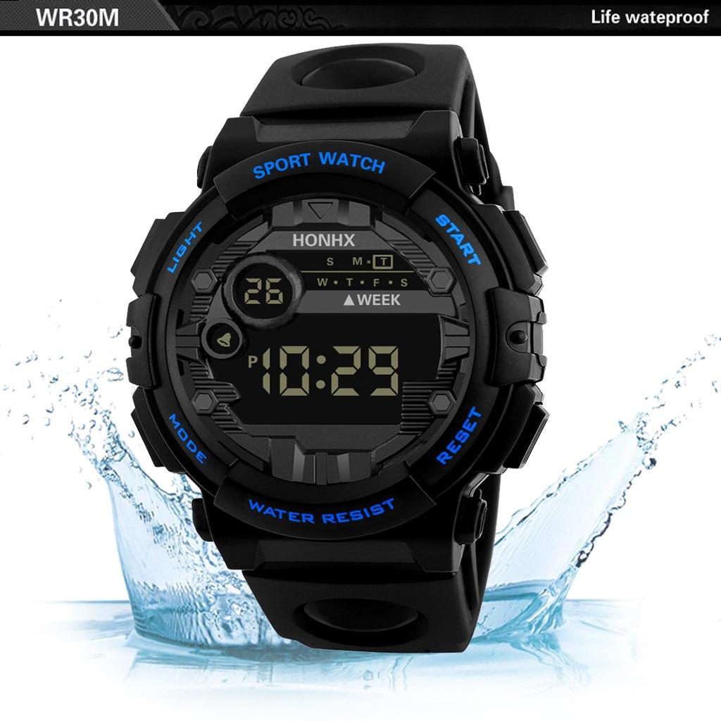 Men's Watch Deluxe Digital LED Smart Date Sports Men's Boys Outdoor Business Hot Sale Boutique Electronic Watch часы мужские 03