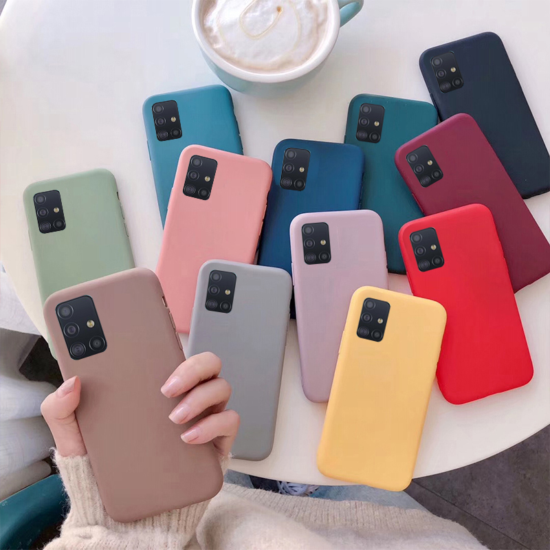 Soft Silicone Cover For Samsung Galaxy M31 M21 M11 A01 A21 A31 A21S A41 A51 A71 A10 A10S A20 A20S A30 A30S A50 A40 A20E Case Gel