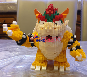 Image 3 - 2200 adet 21822 elmas blokları karikatür aksiyon figürü Koopa kral Anime mikro DIY yapı oyuncaklar çocuklar için hediyeler Brinquedos çocuk