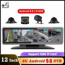 Auto DVR 4 Kanal Objektiv 4G Android 9,0 Dashboard Kamera Video Recorder GPS WiFi HD Rückspiegel Dash Cam auto kanzler ADAS
