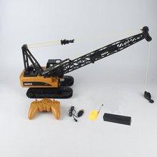 HUINA 1572 15ch RC сплав кран 1/14 2,4 ГГц инженерный подвижный латтированный крюк стрелы механический грузовик игрушечный автомобиль со звуковым светом ti
