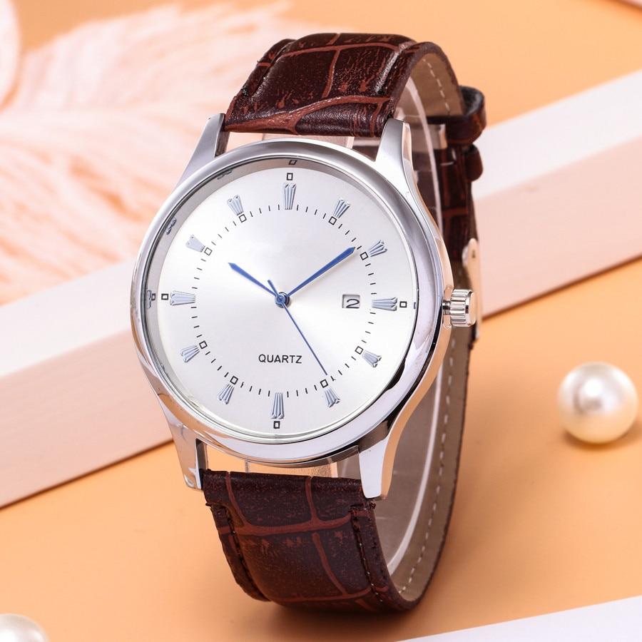 2020 Latest High-end Explosion-proof Business Men's Casual Quartz Single Calendar Men's Watch