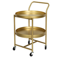 Metallic table movable living Storage Table Tea Fruit Snack Service Plate Tray Bed Living Room Sofa Side