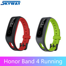 "Originale Huawei Honor Fascia 4 Corsa e Jogging intelligente Wristband Amoled di Colore 0.95 ""Touchscreen di Nuotata Postura di Rilevare la Frequenza Cardiaca di Sonno A Scatto(China)"