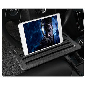 Multifunctional Black Car Laptop Stand Notebook Desk Steering Tray Auto Drinks Holder