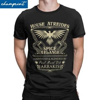 House Atreides Dune Arrakis T Shirt Men Cotton Vintage T-Shirts Round Neck Science Fiction Tees Short Sleeve Clothes Plus Size - discount item  40% OFF Tops & Tees