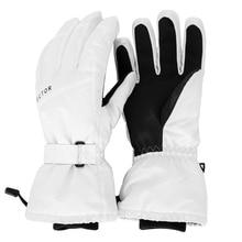 Ekstra kalın kayak eldivenleri beyaz su geçirmez rüzgar geçirmez sıcak kış spor Snowboard kar araci motosiklet sürme kayak sıcak dış