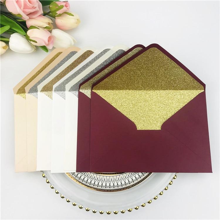 25x Paper Envelopes shimmer Gray Pearlescent Glitter Envelopes For DIY Postcard /Card Wedding Invitation Gift Packing Envelope