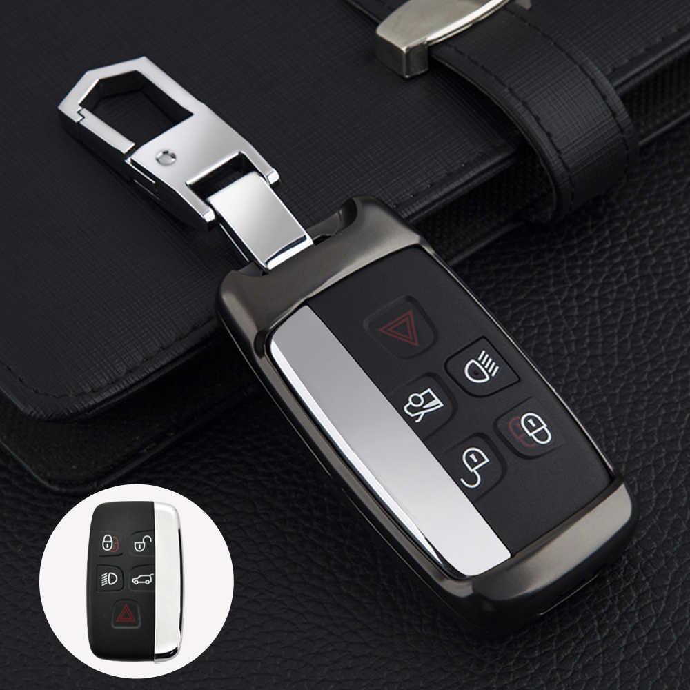 Auto Bunte Zink-legierung Schlüssel Abdeckung Fall Shell Für Land Rover Range Rover Sport Evoque Freelander2 Für Jaguar XF XJ XJL XE C-X16