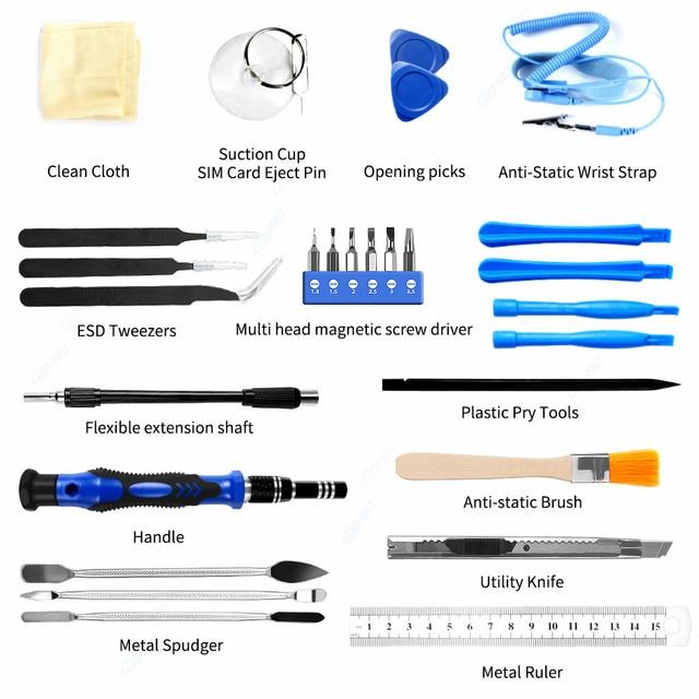 Professional Cell Phones Repair Tool Sets 80 in 1 Precision Screwdriver Kit For iPhone iPad Samsung Laptop Smartphones Repair 4