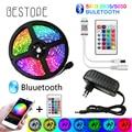 Светодиодная ленсветильник BESTOPE с Bluetooth, гибкая Водонепроницаемая светодиодная лента RGB 5050 SMD, 20 м, 5 м, 10 м, Диодная ленсветильник с управление...