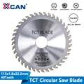 Круговая пила XCAN диаметром 115 мм 40 зубьев TCT, угловая шлифовальная машинка, диск с твердосплавным наконечником, резак по дереву, режущий диск
