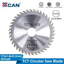 Xcan disco de serra circular, ponta de carboneto para serra de ângulo 115mm 40 dentes tct, corte de madeira disco