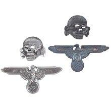 Badges en métal Punk, famille squelette tête de mort et aigle, vêtements, broche bricolage