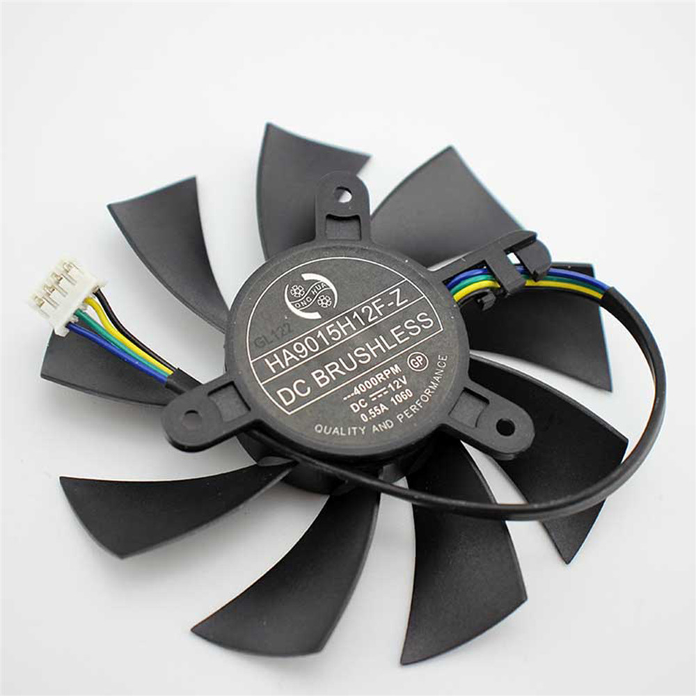 DC 12V 0.50A Cooling Single Fan 4-Pin for MSI R7 360 <font><b>2GD5</b></font> OC For MSI <font><b>GeForce</b></font> <font><b>GTX</b></font> <font><b>950</b></font> <font><b>2GD5</b></font> OC /<font><b>GTX</b></font> 1060 Graphics Card Repair Part image