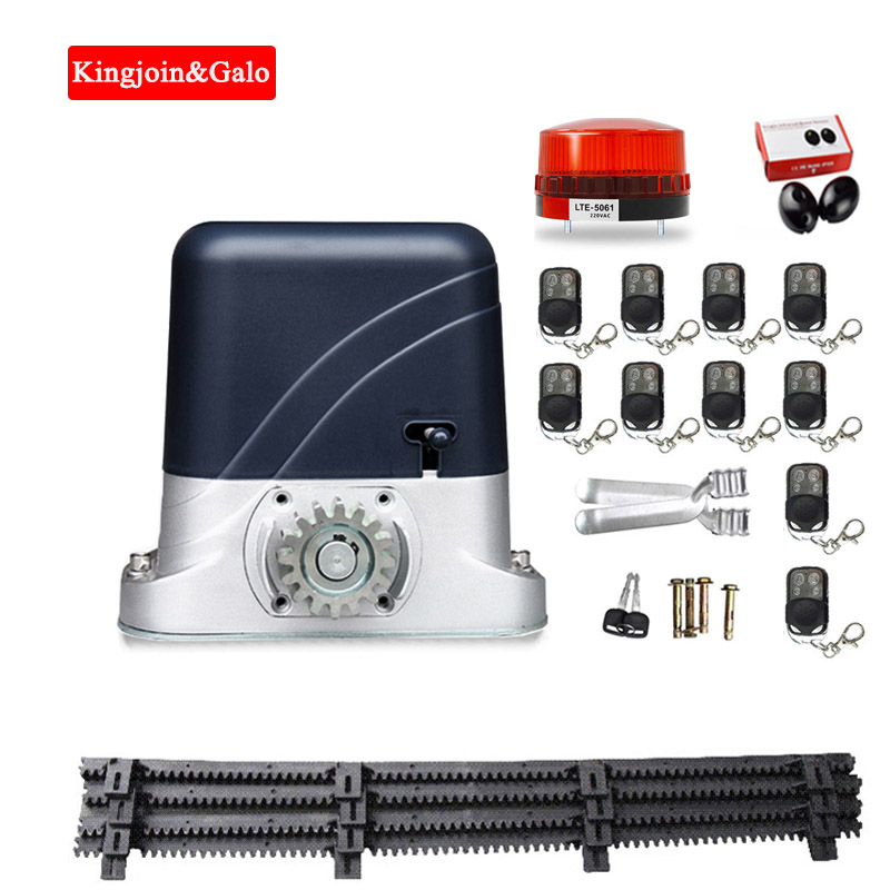Mute 4m Nylon Gear Racks For 500kg Light Gate Motor Automatic Sliding Gate Opener Motor Kit Optional DIY Garage Door Motor