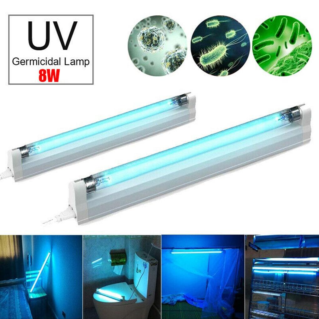 8W 110v LED UV Sterilizer Light T5 Tube UV Ozone Lamp Deep Cleaning Tool For Home Hotel Closet Wardrobe