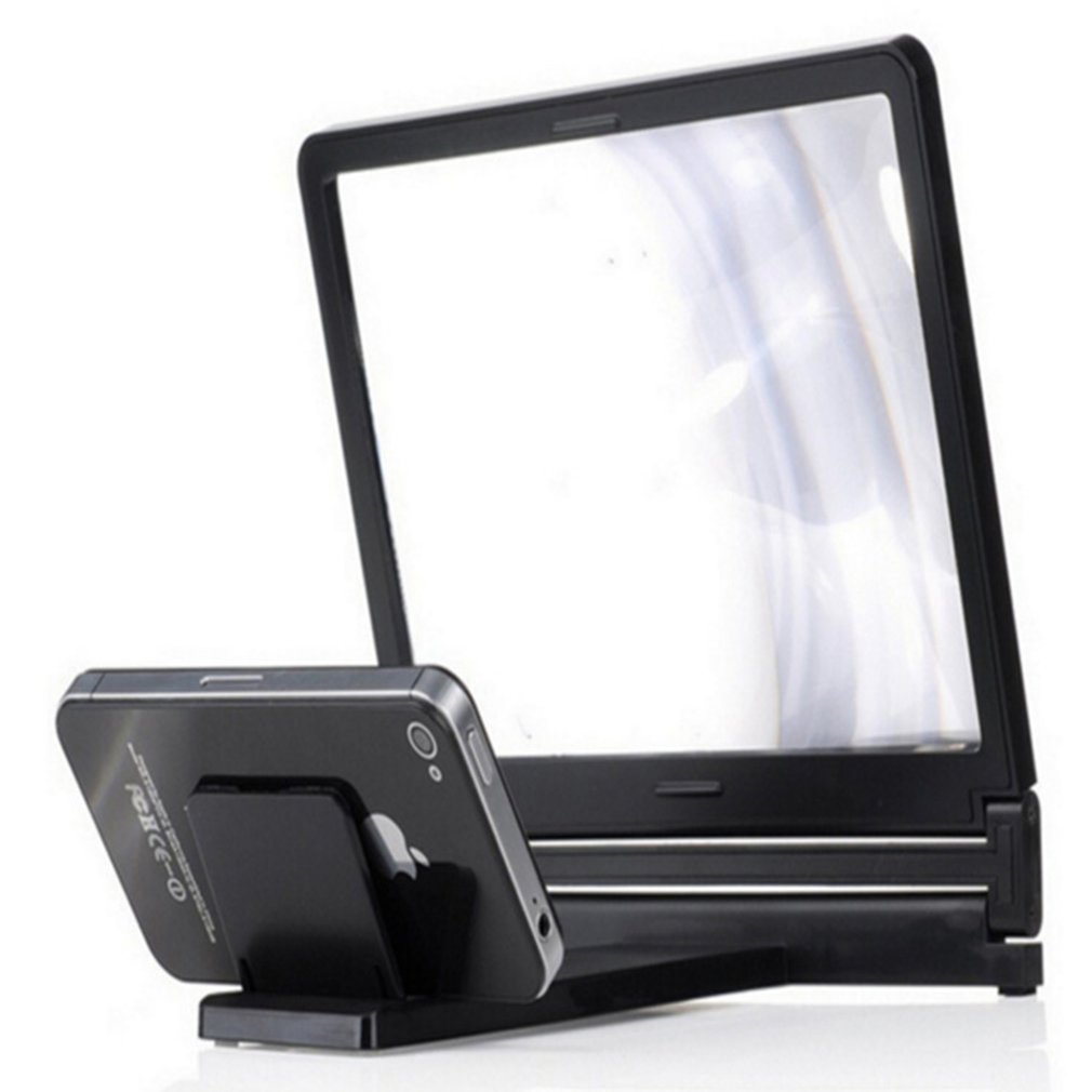 3D Phone Screen Magnifier Stereoscopic Amplifying 12 Inch Desktop Wood Bracket 3D HD Movie Video Amplifier With Foldable Holder in Phone Holders Stands from Cellphones Telecommunications
