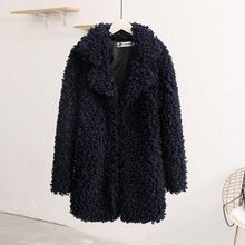 Fashion Women Circle Wool Loose Long Sleeve Turn-down Collar Warm Plush Coat Ramoneska Chaqueta Mujer Jaqueta De Couro(China)