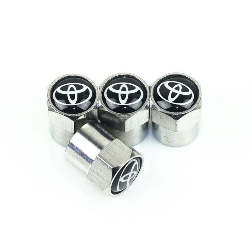 4 PCS Car Tire Wheel Valve Cap Tire Protection Cover For Toyota Corolla Chr Auris Rav4 Yaris Avensis Car Sticker Accessories