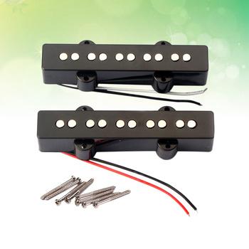 5 ciąg elektryczna gitara basowa przetworniki most szyi przetworniki zestaw dla Jazz Bass gitara otwarty styl części do gitary i akcesoria GMB08 Bla tanie i dobre opinie Unisex CN (pochodzenie) Bass Pickup 4 String Pickup Bridge Neck Pickup Open Style Pickup