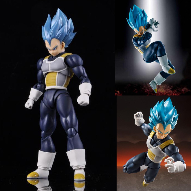 Dragon Ball Z God Vegeta Super Saiyan Movable PVC Action Figures Toy Anime Dragon Ball Super Vegeta Blue Figurine Toys 150mm