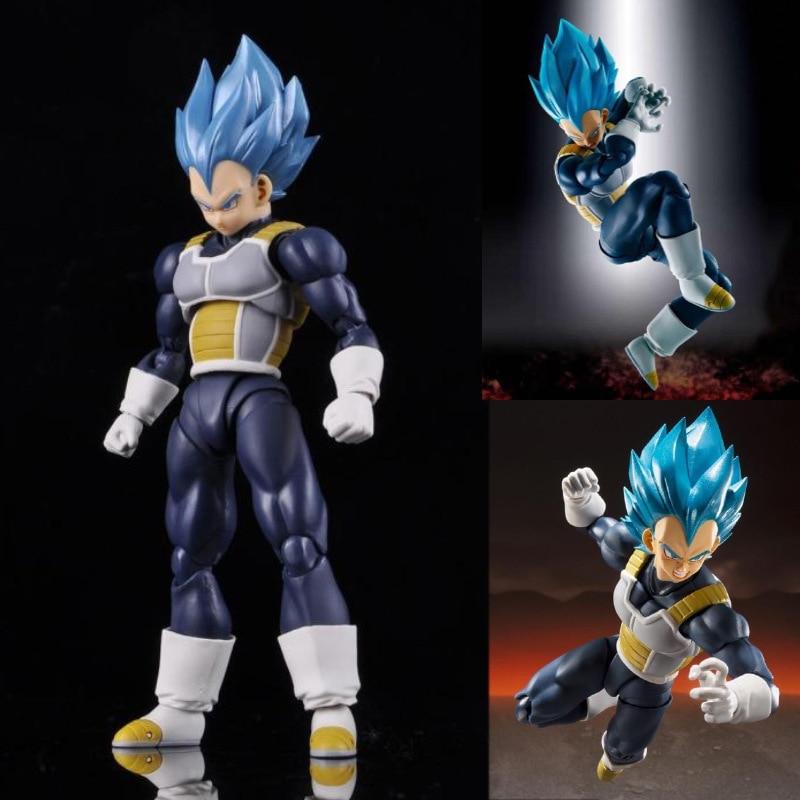 Dragon Ball Z dieu végéta Super Saiyan mobile PVC figurines jouet Anime Dragon Ball Super végéta bleu Figurine jouets 150mm