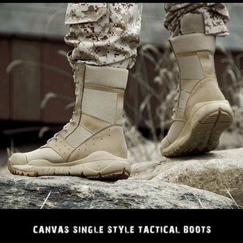 35 48 Size Men Women Ultrallight Outdoor Climbing Shoes Tactical Training Army Boots Summer Breathable Mesh Hiking Desert Boot 3