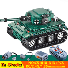 2020 Military Remote Control Tiger Tank Building Blocks Toys Bricks WW2 Army Tank Model Compatible Lepins Toy For Children Gif 995pcs german king tiger tank model building blocks sets military ww2 army soldiers kit diy bricks educational toys for children