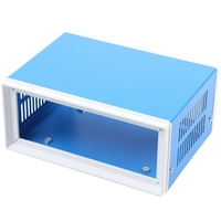 "6.7"" x 5.1"" x 3.1"" Blue Metal Enclosure Project Case DIY Junction Box-in Terminals aus Heimwerkerbedarf bei"