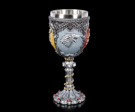 Right's Game Goblet Movie Song of Ice and Fire Red Wine Cup Creative Hand-Painted Stainless Steel Wine Glass image