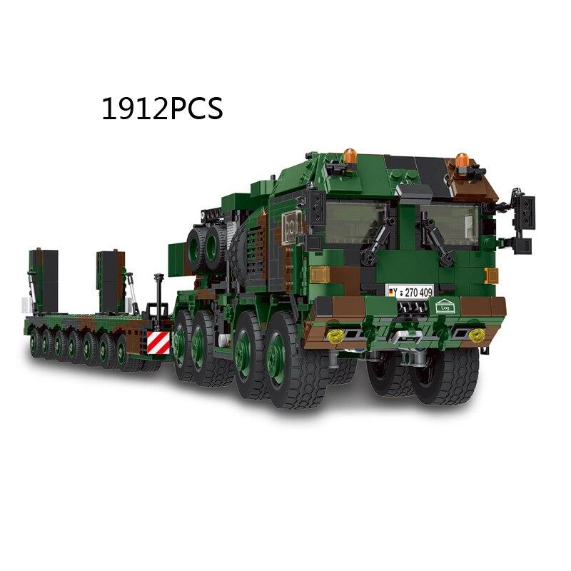 WW2 военные немецкий мужской hx-81 бак транспортное средство модель batisbricks здание Мпц блок мировая война SLT Маммут кирпичные игрушки