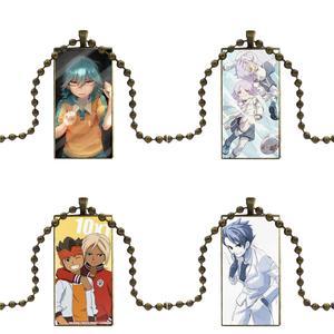 Для мужчин и женщин аниме Inazuma Eleven Go стеклянная подвеска с изображением галактики ожерелье Женские бронзовые ожерелья ювелирные изделия