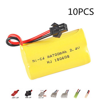 700mah 2.4v Rechargeable Battery For Rc toys Car Tanks Trains Robot Boat Gun AA 2.4v 700mah NiCD Battery Pack 10pcs image