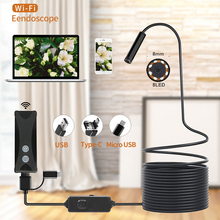Wireless WIFI Endoscope Camera Waterproof Inspection Mini Camera 8mm 1/2/3/5M USB Endoscope Borescope For Iphone Android PC IOS
