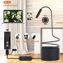 ワイヤレス無線 lan 内視鏡カメラ防水検査ミニカメラ 8 ミリメートル 1/2/3/5 メートルの usb 内視鏡ボアスコープ iphone android 用 pc ios