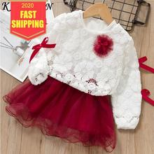цена на Keelorn Baby Girls Dress New Spring Long-Sleeve Princess Dresses Kids Clothes Children Dress Baby Girl Party Dress Girls clothes