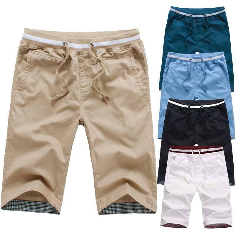 Summer MEN'S Casual Shorts Men'S Wear 5 Short Shorts 7 Points Capri Large Trunks Summer Breeches Thin Elastic Band