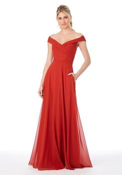 2020 nowy czerwony szyfonowe suknie dla druhen linia a dekolt długie suknie na przyjęcia weselne głęboki dekolt na plecach eleganckie sukienki dla kobiet tanie i dobre opinie NoEnName_Null Długość podłogi -Line CN (pochodzenie) V-neck Bez rękawów Zakładka Dla dorosłych B1000 Suknie druhna