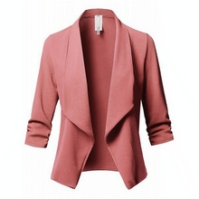 Blazer Feminino Autumn Blazer Jacket Fashion Pleated Lapel W