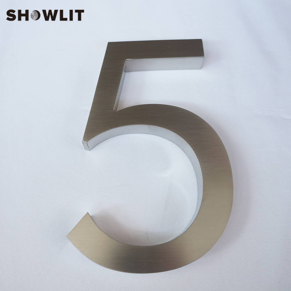 Stainless Steel Number House Door Numbers Outside 3D Separated Numbers Custom Made