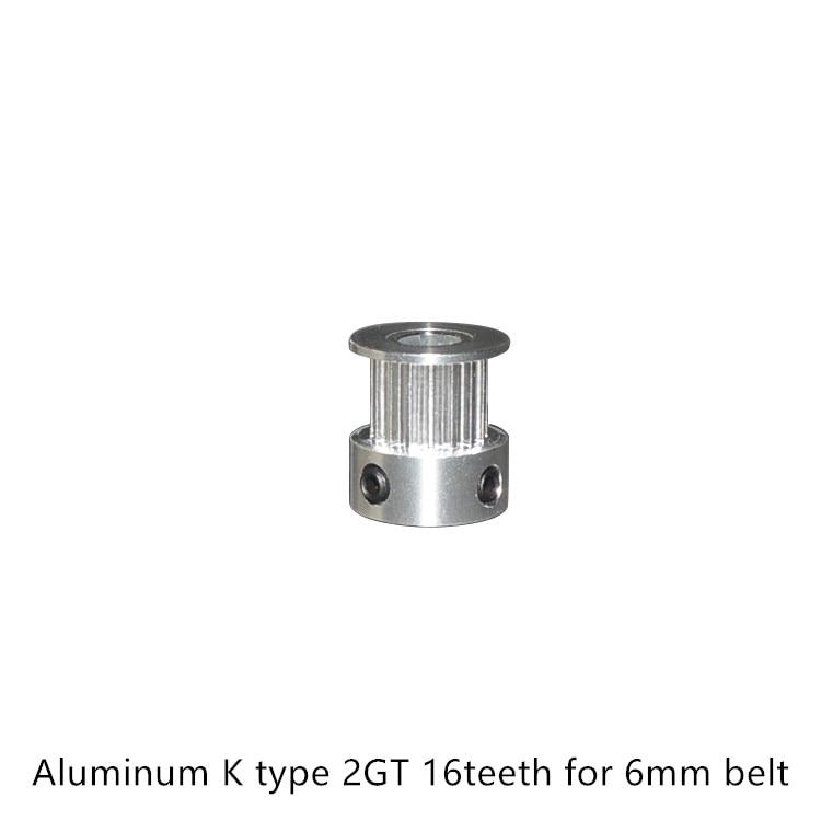 Imprimante 3d aluminium 2GT poulie de distribution 16 dents alésage 3mm 3.17mm 4mm 5mm 6 6.35mm pour GT2 largeur de courroie 6mm