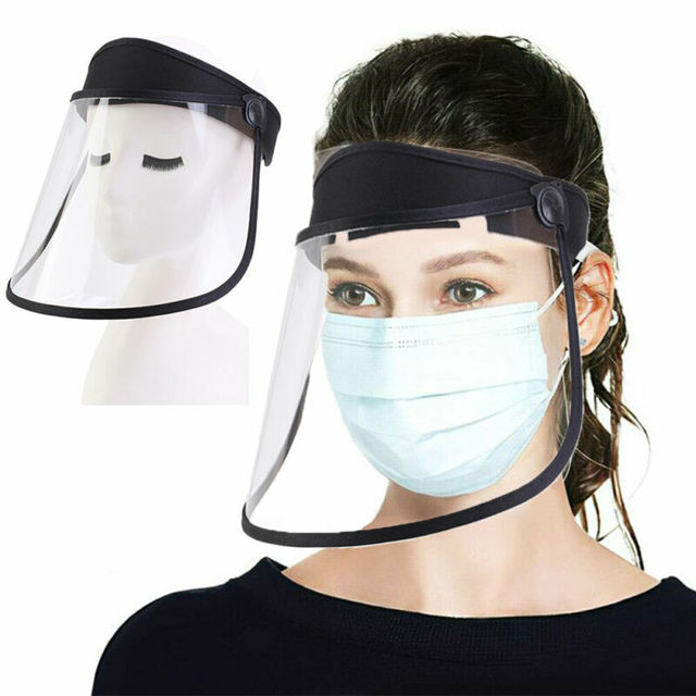 Clear Protective Mask Cover Plastic Anti-fog Saliva Face Shields Mask