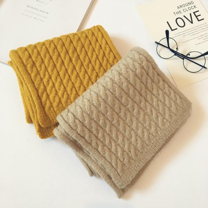 Korean Knit Wool Solid Twist Soft Warm Autumn Winter Thick Kids Children Boys Girls Shawls Wraps Scarves Accessories LHC in Scarves from Mother Kids