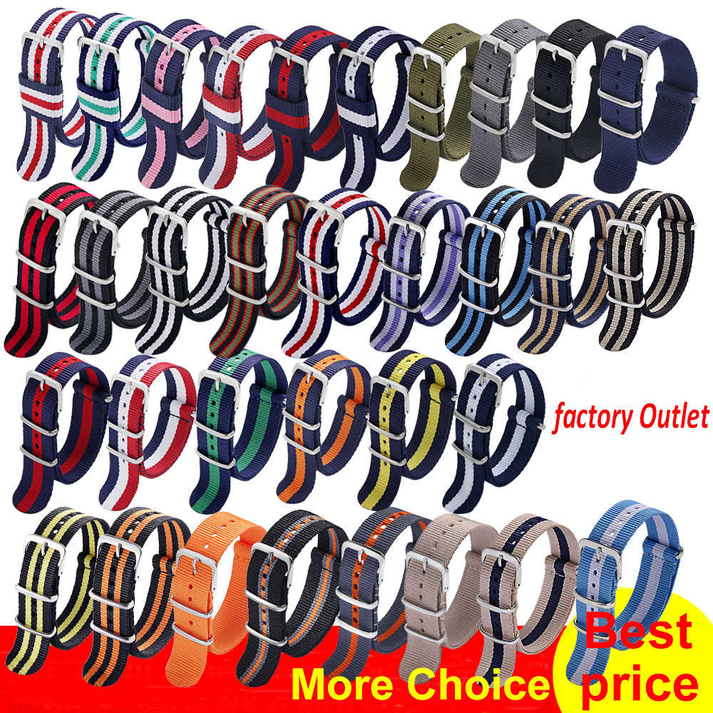 Carty 1pcs Nato Strap 18mm 20mm 22mm Nylon Horloge Band Waterdicht Horloge Strap voor Nato Army sport Horloge Dropshipping Riem