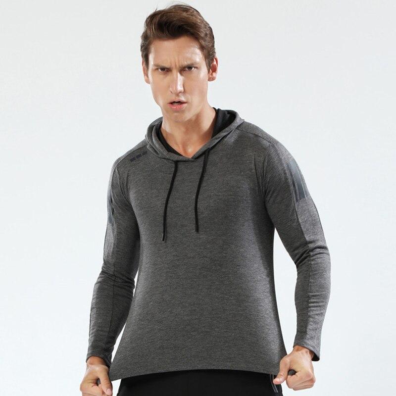 running - Spring/Autumn Running Jacket Man Sport Shirt Gym Hoodie Outdoor Sports Coat Fitness Long Sleeve Coat Cycling Sportswear Male