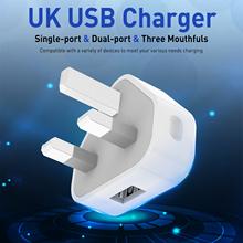 Ottwn ładowarka podróżna USB podwójna ładowarka USB 3 USB 3Pin wtyczka szybka ładowarka ładowarka ścienna ładowarka podróżna dla iphone Xiaomi tanie tanio 3 USB Charger 100-240V 50-60Hz 0 35A 5V-3 0A (MAX) 9V-2 0A (MAX) 12V-1 5A (MAX) Qualcomm Quick Charge 3 0 UK USB Charger