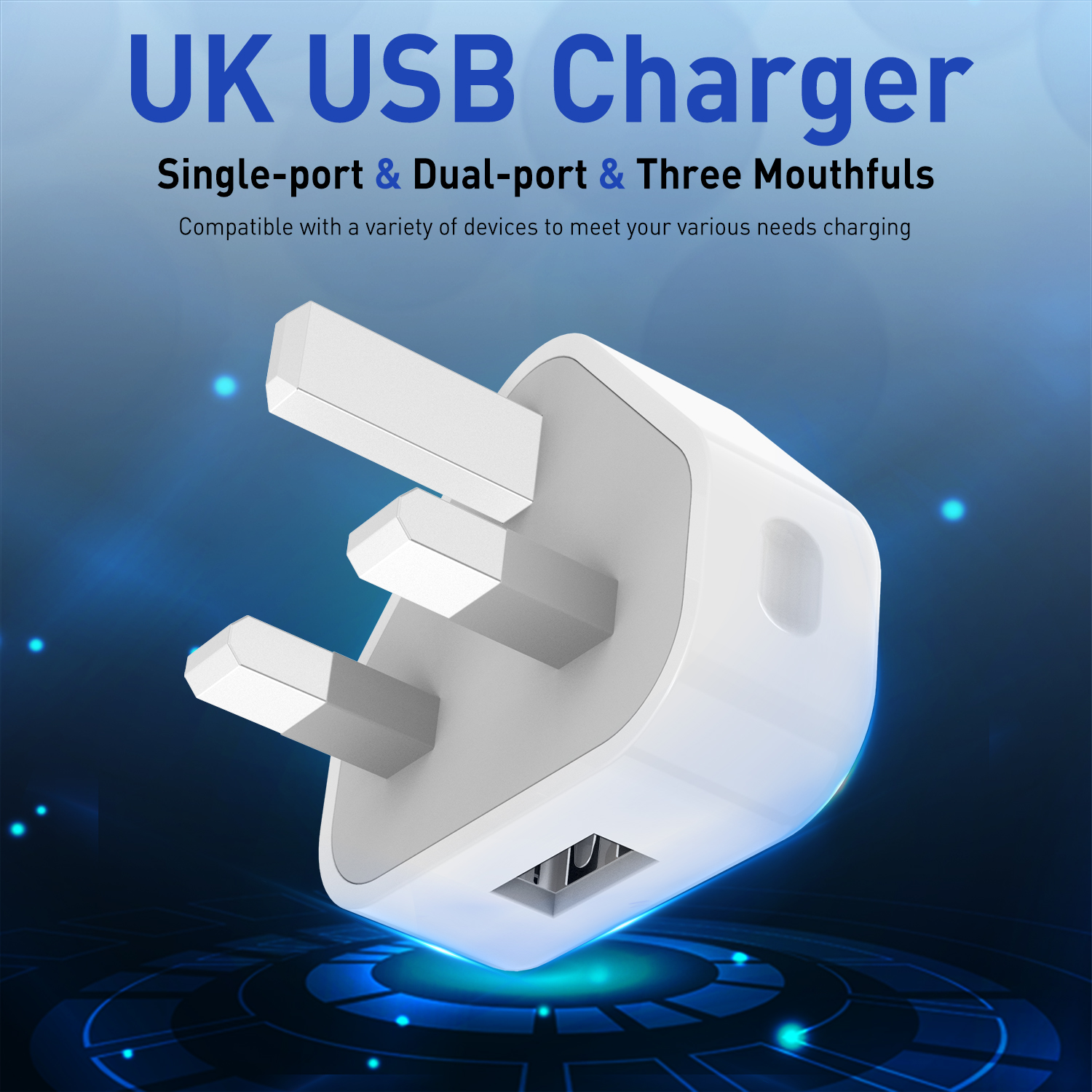 Ottwn USB Travel Adapter Double USB 3 USB Charger 3Pin Plug USB Fast Charger Wall Charger Travel Charger Cable For Iphone Xiaomi