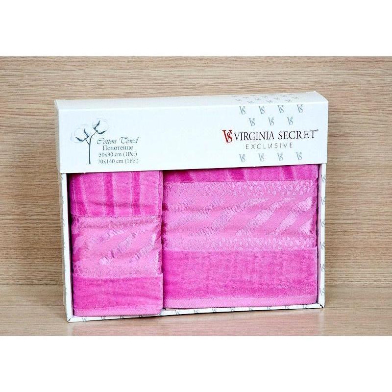 купить Towel Set VIRGINIA SECRET, 2 subject, fuchsia дешево