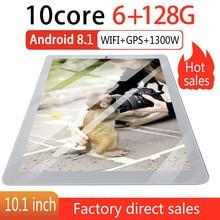P10 модный планшет 10,1 дюймов HD большой экран Android 8,10 версия модный портативный планшет 6G+ 128G Золотой планшет с европейской вилкой